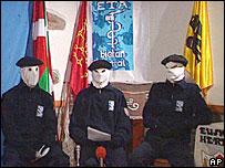 Integrantes del grupo separatista vasco ETA (archivo 2003)