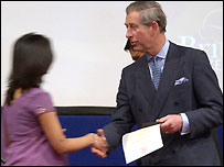 The Prince of Wales at the first citizenship ceremony in 2004