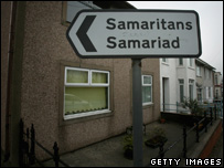 Bridgend Samaritans sign