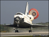 Shuttle Atlantis after landing (Getty)
