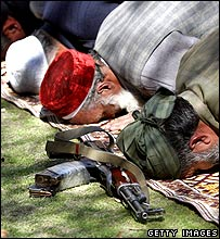 ANP supporters praying