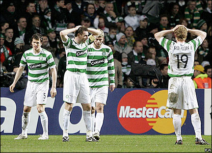 Celtic's players are left stunned