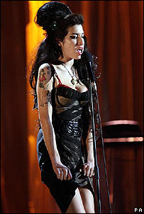 Amy Winehouse at the Brit Awards
