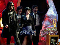 Osbourne family at the Brit Awards