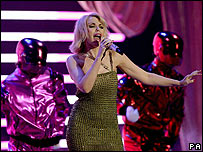 Kylie Minogue at the Brit Awards