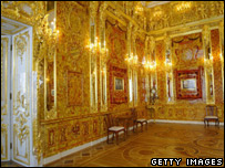 The recreated Amber Room