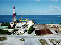French nuclear command base at Mururoa Atoll (August 1995)