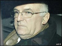Sir Richard Dearlove leaving inquest