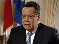Portugal's economy minister, Manuel Pinho