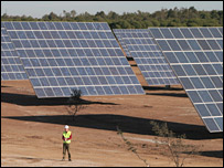 Solar power station being built in Moura