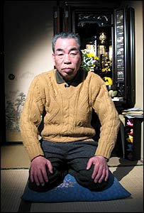 Michio Tanaka in his home