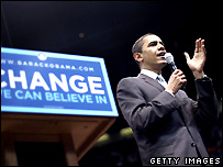 Barack Obama at a Dallas, Texas campaign rally - 20 February, 2008