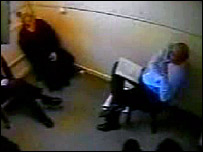 CCTV footage of interview