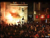 Attack on US embassy in Belgrade