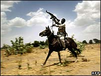 Sudanese Janjaweed in western Darfur region (April 2004)