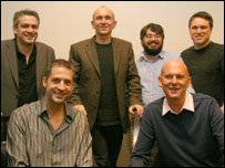 (From top left) Neil Young, Peter Molyneux, Raph Koster, Chris Taylor, Dave Perry and Phil Harrison