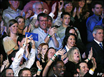 Audience members at the debate between Democratic candidates, Austin, 21 February 2008