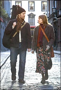 Glen Hansard and Marketa Irglova in a scene from Once