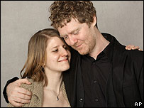 Glen Hansard with screen and real-life partner Marketa Irglova