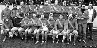 Parliamentary football team, 9 March 1975