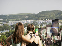 Festivalgoers at Bestival