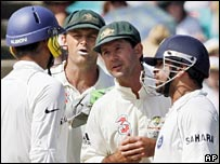 Australia and India players exchange words during their recent Test series