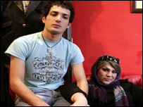 Anoosh who became Anahita, and her boyfriend
