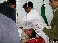 Child hurt in explosion at Swat receives medical care
