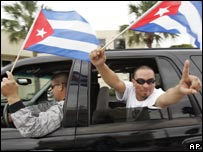 Cuban exiles in Miami