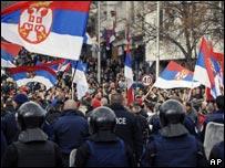 Mitrovica protest 22 Feb
