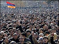 Protesters in Yerevan (image from 21 February)