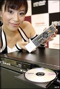 Toshiba's HD-DVD player (Photo: Yoshikazu Tsuno/AFP/Getty Images)