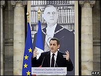 President Sarkozy opens De Gaulle monument, 22 Feb 08