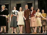 The cast of Anne Frank: A Song to Life perform