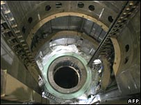 Interior of Iran's Bushehr nuclear reactor (archive)