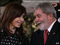 Fern�ndez y Lula