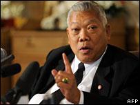 Thailand's Prime Minister Samak Sundaravej, 8 February, 2008