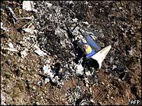 Vista aérea del accidente