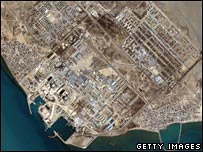 Satellite image of Iran's of Bushehr nuclear reactor (archive)