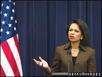 Condoleezza Rice on 22 December 2008