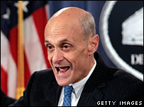 US Homeland Security Secretary Michael Chertoff