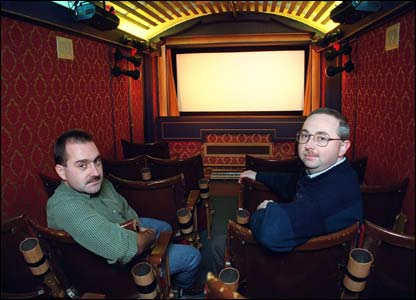It is currently run by Wayne Johns, right, with projectionist Mike Downing