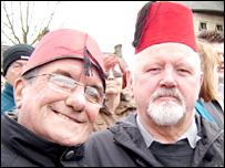 Tony St John, from Blackpool, and Austin Howells, of Ynysybwl