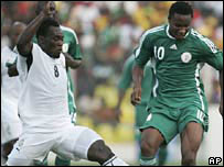 Michael Essien and Jon Mikel Obi