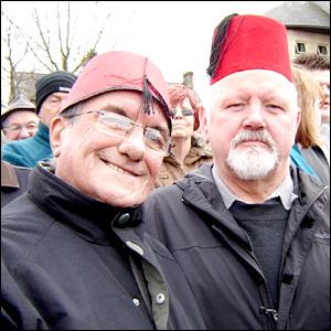 Tony St John (left) and Austin Howells