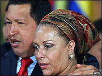 Piedad Córdoba y Hugo Chávez