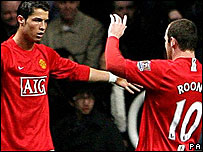 Cristiano Ronaldo and Wayne Rooney