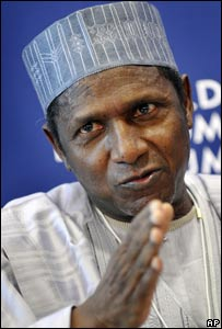 President Umaru Yar'Adua at the World Economic Forum in January