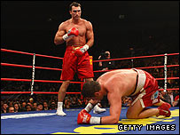 Wladimir Klitschko put Sultan Ibragimov on the canvas but it was not ruled a knockdown