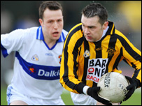 Oisin McConville struggled to make an impact in open play